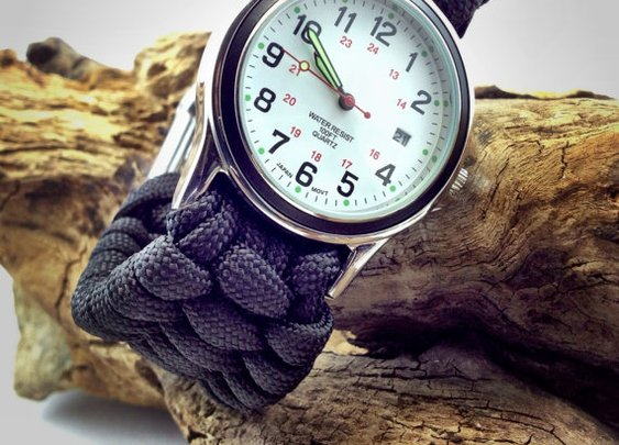 Paracord Watch with Adjustable Shackle by DesignedTurning on Etsy