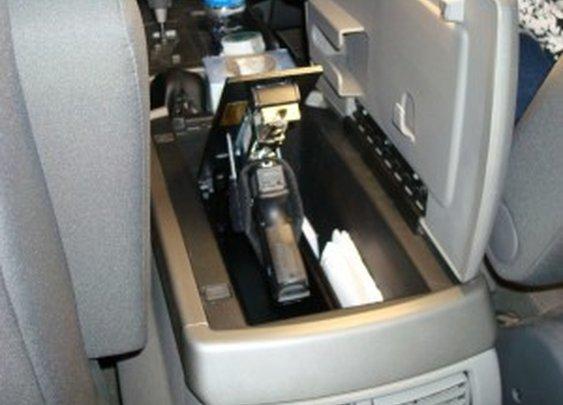 Pistol Gun Safe in Truck Console | StashVault