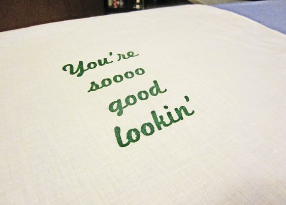 You're So Good Lookin Handkerchief Festivus Gift by ponyboypress