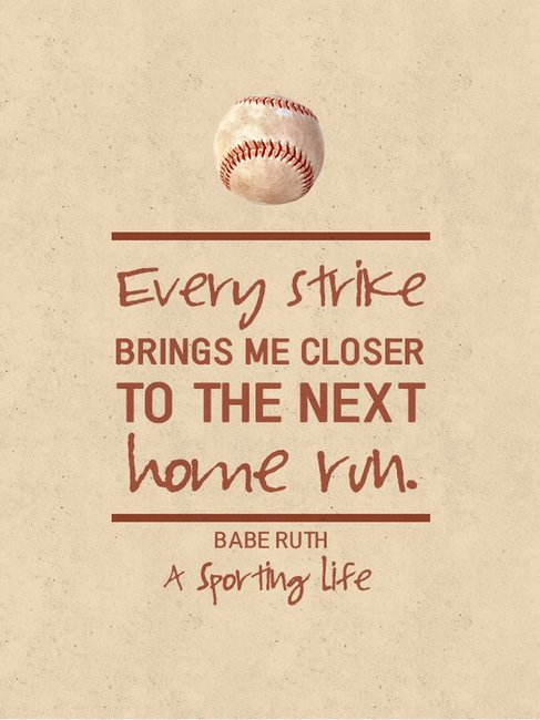 Sports Quotes / www.asportinglife.co #sportsquotes #baberuth #baseball