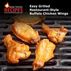 Easy Grilled Restaurant-Style Buffalo Chicken Wings