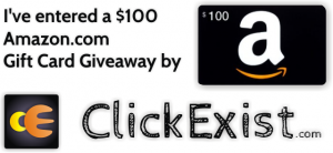 Check the $100 Amazon.com Gift Card Giveaway by ClickExist.com