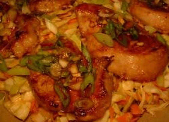 Korean-Style Pork with Asian Slaw