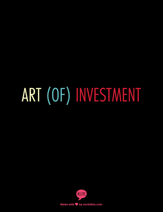 Art (of) investment