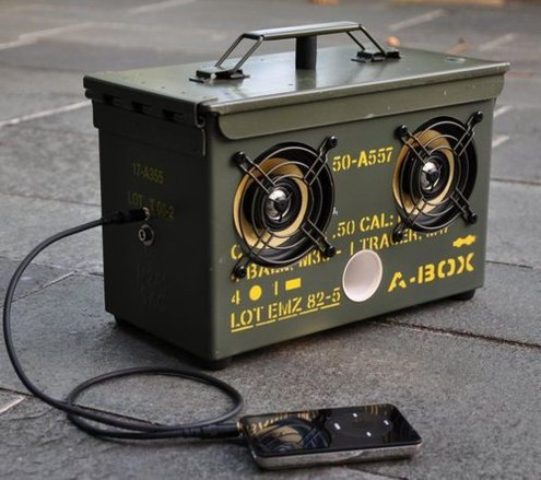 DIY Surplus Ammo Can Speaker Box