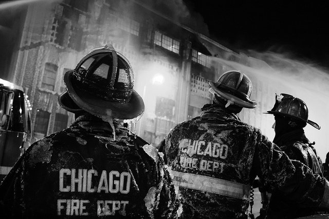 Fire to ice in Chicago Photos