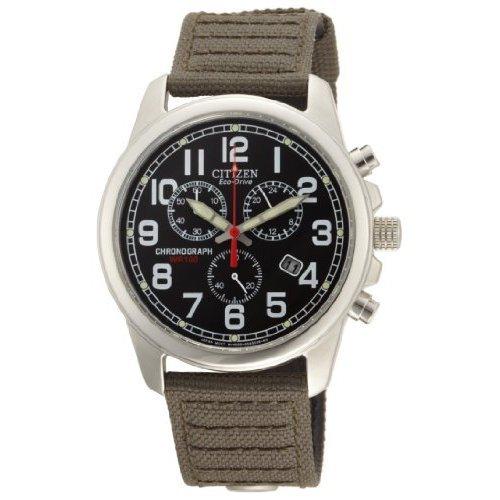 Citizen Men's AT0200-05E Eco-Drive Chronograph Canvas Watch: Watches: Amazon.com