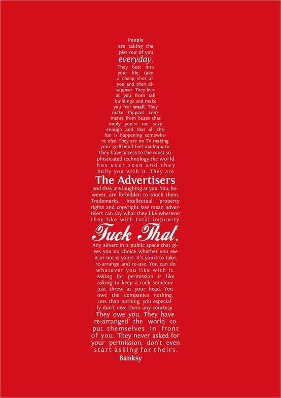 Banksy - Cola.  Viva Guerrilla Art