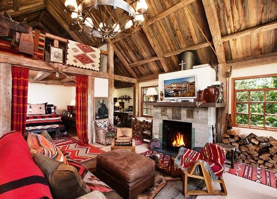 Reese Witherspoon's Beautiful Rustic California Country House style