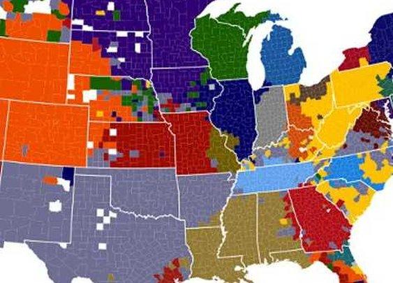 NFL Fans Map