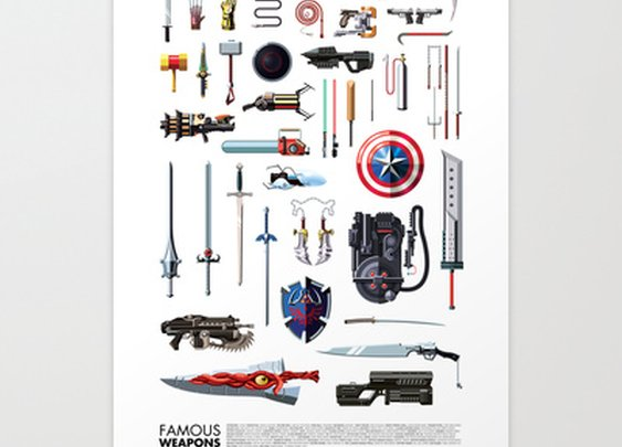 Famous Weapons Art Print