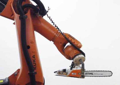 A Robot With A Chainsaw!