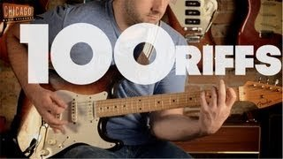 100 Riffs (A Brief History of Rock N' Roll) - YouTube