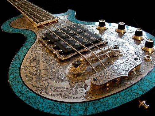 Outrageous bass guitar.