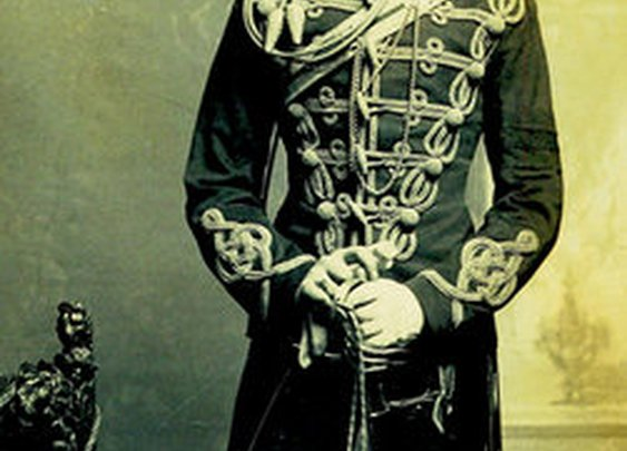 Winston Churchill--slim, young, and no cigar. ( in his officer's uniform, age 21, 1895.)