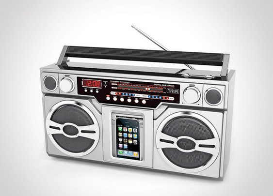 80's Boombox Music Player - Headlines & Heroes