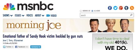Outrageous: How the left-wing media lied about Newtown 'hecklers' | Twitchy
