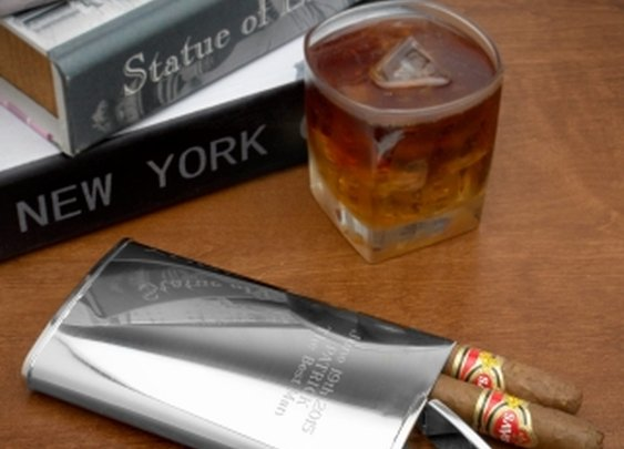 2-in-1 Cigar Holder and Flask (Engravable)  $28