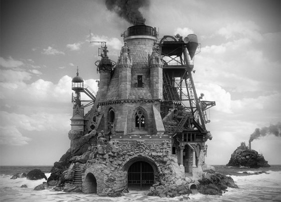 An Architect Gone Mad: Mysterious Buildings Assembled from Found Photographs by Jim Kazanjian | Colossal