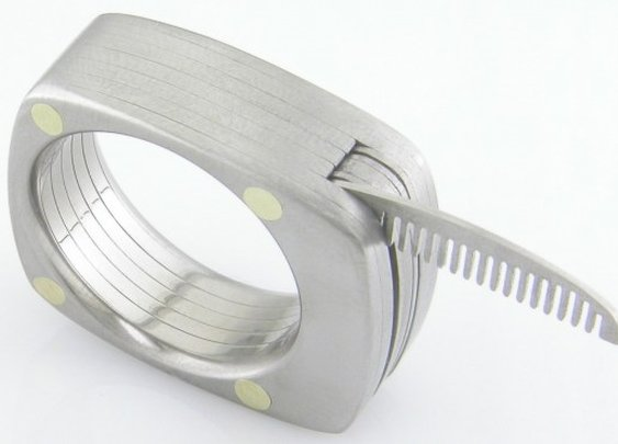 The Titanium Utility Ring makes your fingers extra-useful – and manly
