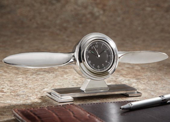 Propeller Desk Clock - Sporty's Wright Bros