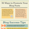 30 Ways to Effectively Promote Your Blog Posts [Infographic]