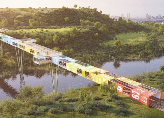 This Tel Aviv Cargotecture Bridge Puts Shipping Containers to Fresh Use | Environment on GOOD