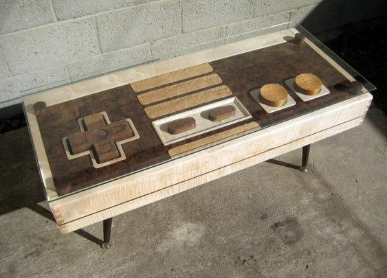Wooden NES coffee table doubles up as a fully functional controller as well | Ubergizmo