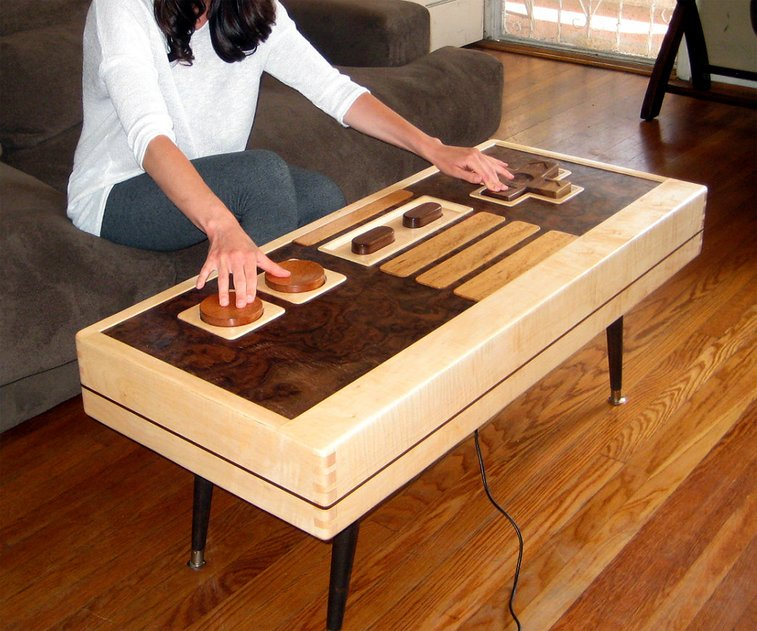 Working Nintendo Controller Coffee Table   DudeIWantThat.com