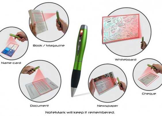 NoteMark pen scanner digitizes paper documents in an instant