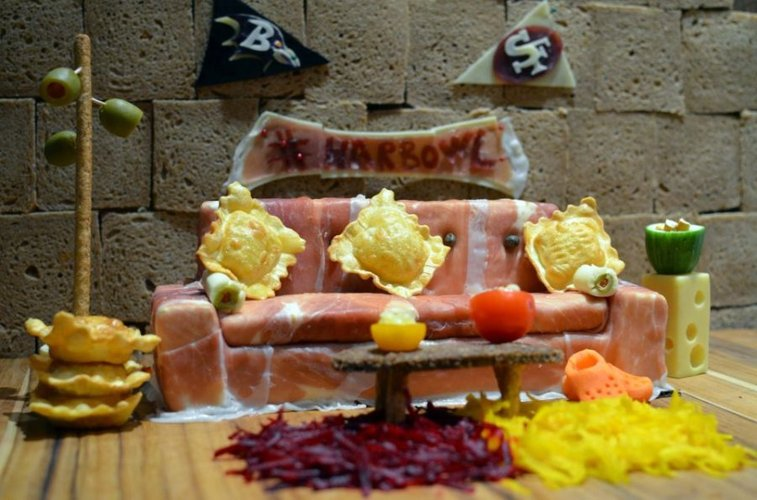 Mario Batali Made An Italian Meats And Cheese Tribute To The Harbowl