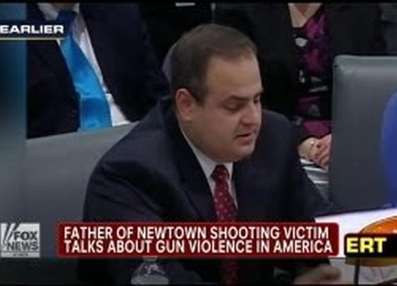 Father of Sandy Hook victim speaks out on gun violence, surprisingly against new gun laws. YouTube