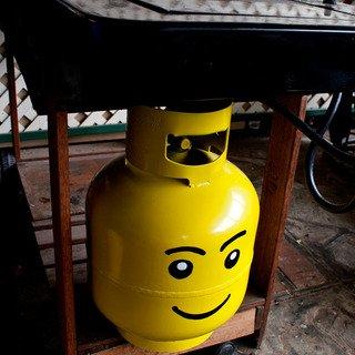 Propane tank Lego figure head - DIY