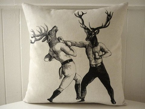 Petaluma Supply Co. Boxing Stags Pillow