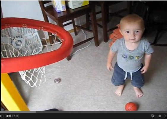 Unbelievable Little Kid Does a Trick Shot (Video)