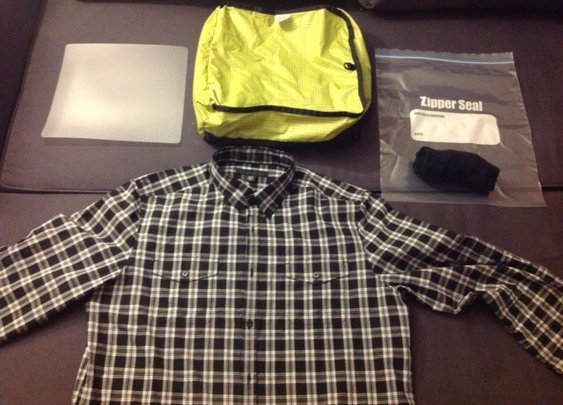 How to: Pack dress shirts in a packing cube