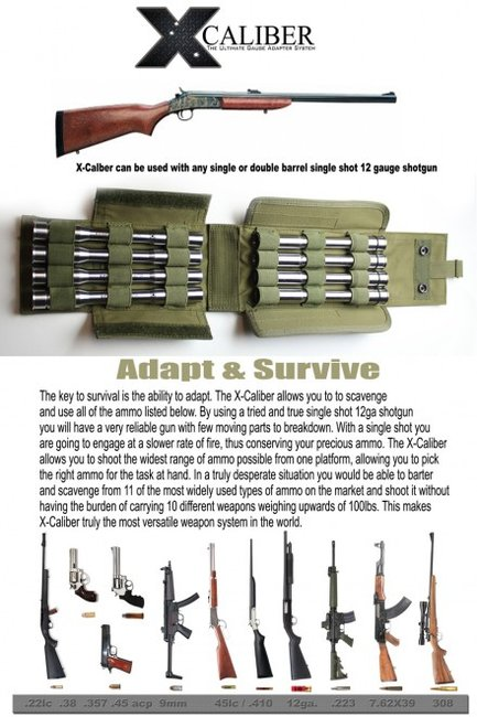 XCALIBER SurvivalRifle Gauge Adapter System