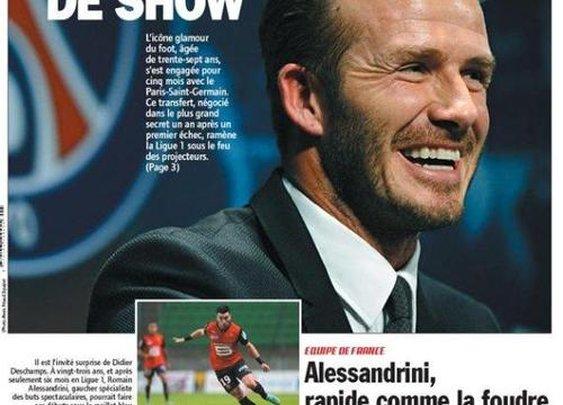 Beckham + PSG = charity donation