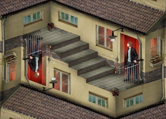 Creatively absurd, M. C. Escher-esque photo manipulation [11 pictures] - 22 Words