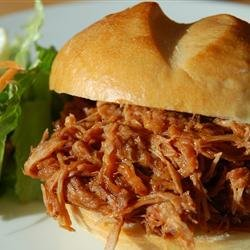 Beer and Bourbon Pulled Pork Sandwiches
