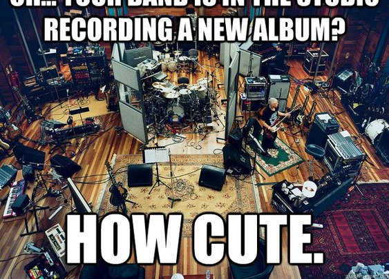 U2's recording session.