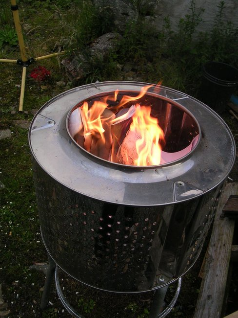 DIY Washing Machine Tub Firepit/Incinerator