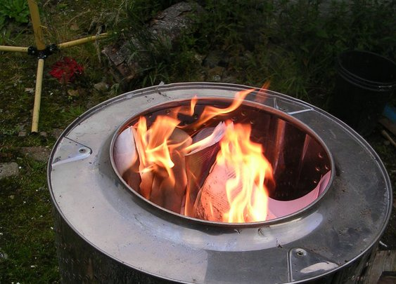 DIY Washing Machine Tub Firepit/Incinerator