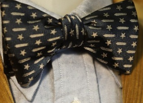 Come and Take It - Texas Battle Flag Bow Tie in Navy