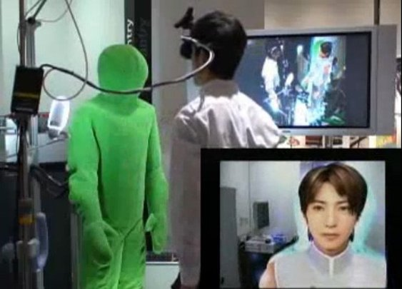Augmented reality robot fleshes out virtual characters