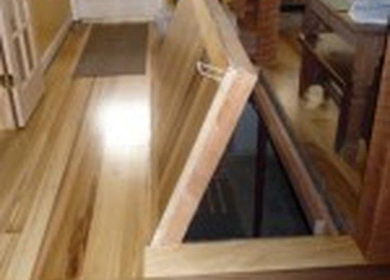 Secret Trapdoor in Floor to Basement