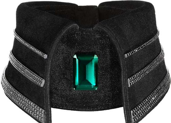 Black Diamond Collar Designed by Karl Lagerfeld