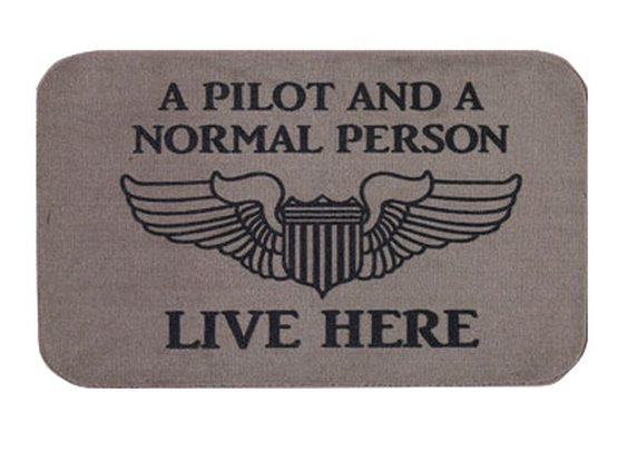 A Pilot and A Normal Person Live Here Doormat - Sporty's Wright Bros