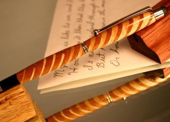 Wood pen in awe inspiring striped wood pattern by Hope & Grace Pens