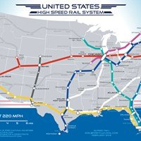 Beautiful Pipedream of the Day: U.S. High Speed Rail Map - Cheezburger